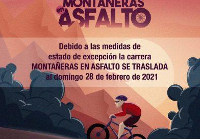 Montañeras en Asfalto: Se traslada al Domingo 28 de Febrero de 2021